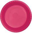 20 große Plastik Teller in Magenta Pink 26 cm Durchmesser