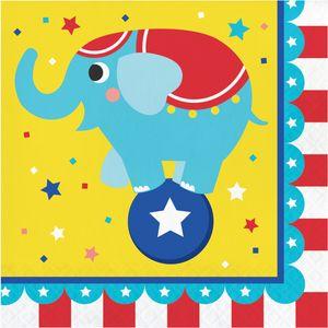 16 Servietten Zirkus Party – Bild 1