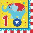16 Servietten Zirkus Party - zum 1.Geburtstag