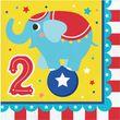 16 Servietten Zirkus Party - zum 2. Geburtstag