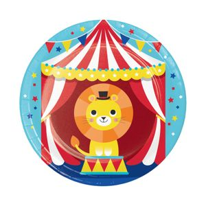 8 kleine Papp Teller Zirkus Party – Bild 1