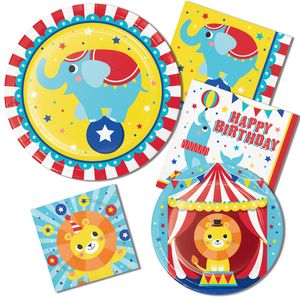 Tischdecke rot weiß gestreift zur Zirkus Party – Bild 2