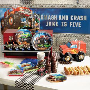 8 kleine Papp Teller Monster Truck Rallye – Bild 3