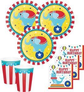 Zirkus Party Set 16 Personen - 48 Teile – Bild 1