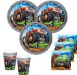Monster Truck Rallye Party Set für 16 Personen - 48 Teile