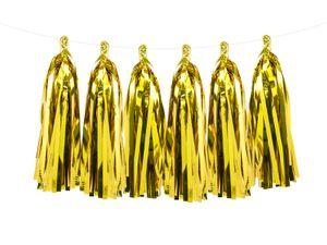 Do it yourself Quasten Girlande Gold Glanz