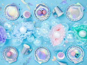 6 Papp Becher Irisierend Meerjungfrau – Bild 3