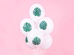 6 Palmenblatt Aloha Ballons – Bild 2
