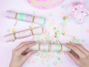 6 bunte Knallbonbons - Confetti Cracker – Bild 2