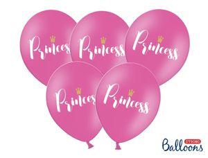 6 Prinzessin Luftballons pink