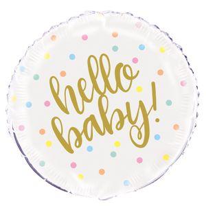 Folienballon Hello Baby – Bild 1