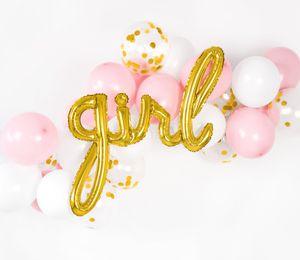 Buchstaben Folienballon Girl in Gold – Bild 2