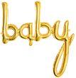 Buchstaben Folienballon Baby in Gold