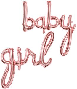 Buchstaben Folienballon Baby Girl in Roségold – Bild 1