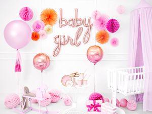 Buchstaben Folienballon Baby Girl in Roségold – Bild 2