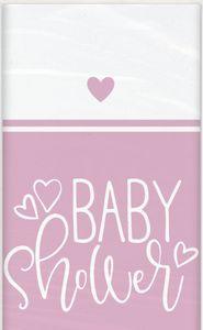 Tischdecke Baby Shower Herzchen in Rosa – Bild 1