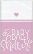 Tischdecke Baby Shower Herzchen in Rosa