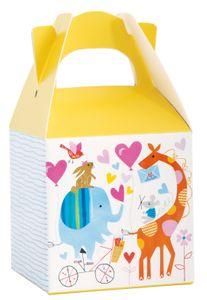 8 kleine Geschenke Schachteln Baby Zoo