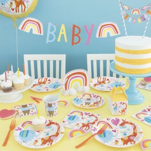 32 Teile Babyshower Baby Zoo Party Deko Set für 8 Personen – Bild 5