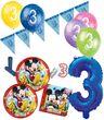 57 Teile 3. Geburtstag Micky Maus Party Deko Set für 8 Kinder