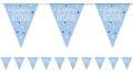 Wimpel Girlande Blue Dots Glitzer Happy Birthday