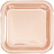 8 quadratische Papp Teller RoseGold Metallic