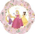 4 glänzende Papp Teller in Blumen Form True Disney Princess