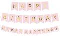 Geburtstags Girlande Rosa mit Gold folierterter Schrift