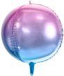 runder Ombre Ballon aus Folie in Violett und Blau 35cm