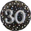 XXL Multi Folien Ballon zum 30. Geburtstag mit separat füllbaren Glitzer Zahlen