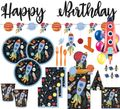XXL 99 Teile Weltall Outer Space Party Deko Set 8 Kinder
