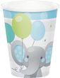 8 Papp Becher Blauer Baby Elefant