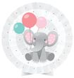 Tischaufsteller Rosa Baby Elefant