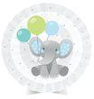 Tischaufsteller Blauer Baby Elefant