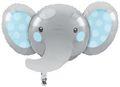 XL Folien Ballon Blauer Baby Elefant