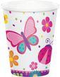 8 Papp Becher Schmetterling im Garten