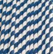 20 Papier Trinkhalme blau weiß gestreift